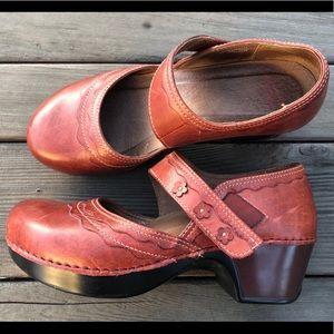 Dansko Shoes - Dansko 41 Deep Red Mary Jane Clogs
